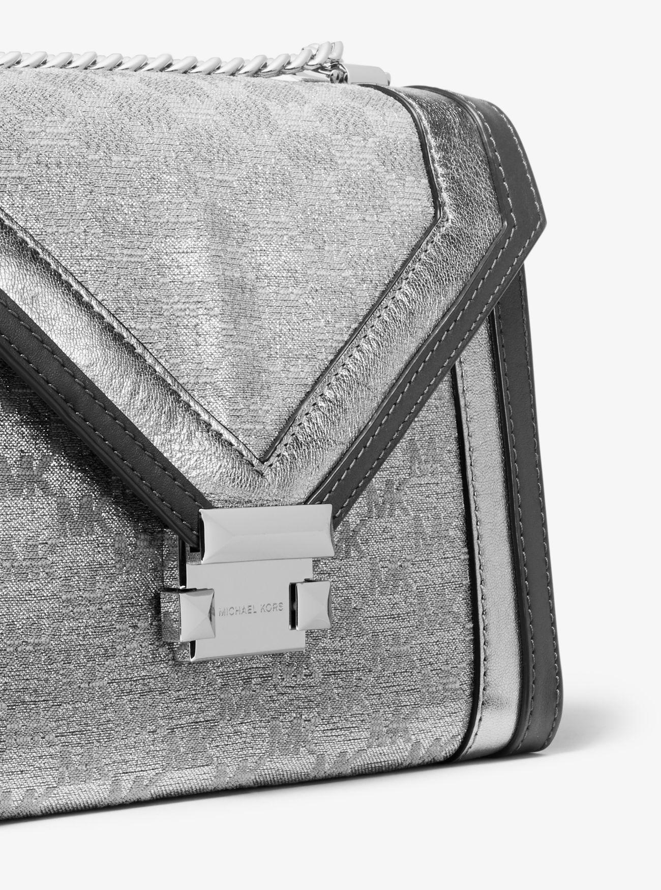 be02b44693e9 Whitney Large Metallic Logo Jacquard Convertible Shoulder Bag ...