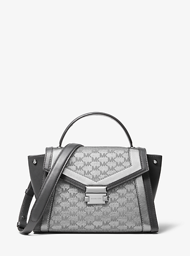 4a2139485c05 We're sorry, 'Whitney Medium Metallic Logo Jacquard Satchel' is no longer  available