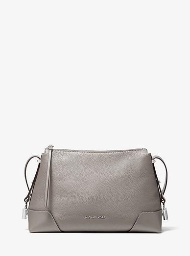 e87a29fe10 Crosby Medium Pebbled Leather Messenger | Michael Kors