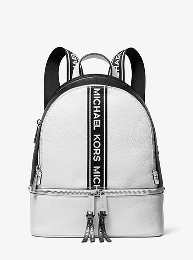 0622973e9ece7b Rhea Medium Logo Tape Backpack | Michael Kors