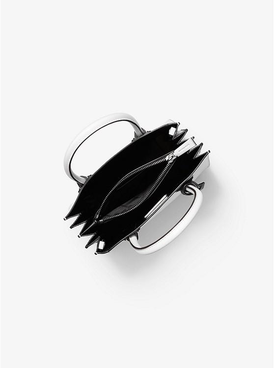 4658b7ffc4f43 Borsa a tracolla Mercer media a fisarmonica in pelle con fettuccia con logo