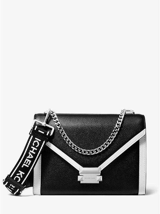 Whitney Large Pebbled Leather Convertible Shoulder Bag