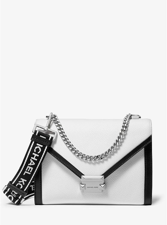 52584a9affb Whitney Large Pebbled Leather Convertible Shoulder Bag   Michael Kors