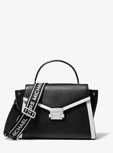 326a776e9 Whitney Medium Pebbled Leather Satchel | Michael Kors