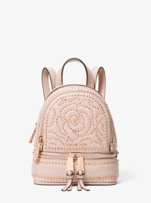 9d97a65acbec Rhea Mini Rose Studded Leather Backpack