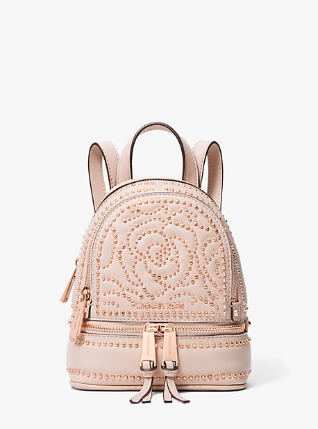 d644887061e9 Rhea Mini Rose Studded Leather Backpack