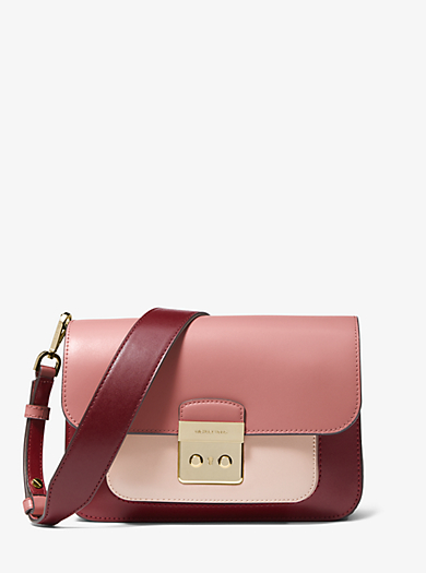 Sloan Editor Tri Color Leather Shoulder Bag