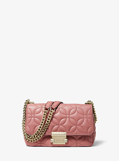 b1d43fdb39ac MICHAEL Michael Kors; Sloan Small Floral Quilted Leather Shoulder Bag