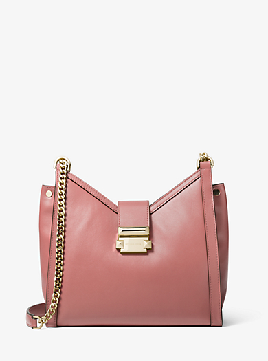 bac633d4cbe Whitney Small Leather Shoulder Bag · michael michael kors ...