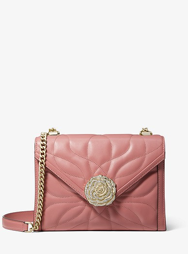 Whitney Large Petal Quilted Leather Convertible Shoulder Bag