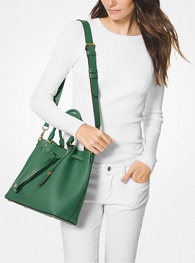 Blakely Medium Leather Bucket Bag. MICHAEL Michael Kors f541bb7b2264e