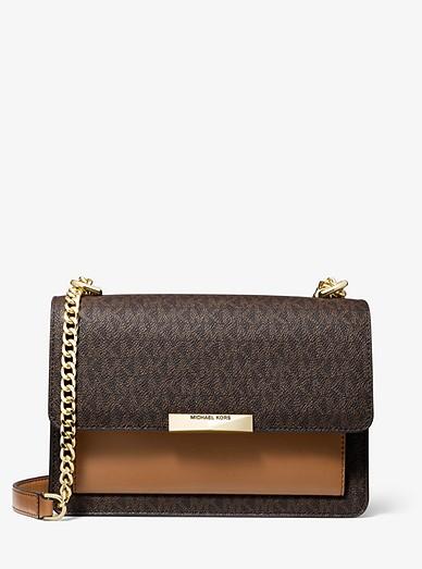 Grand sac à bandoulière Jade en cuir à logo
