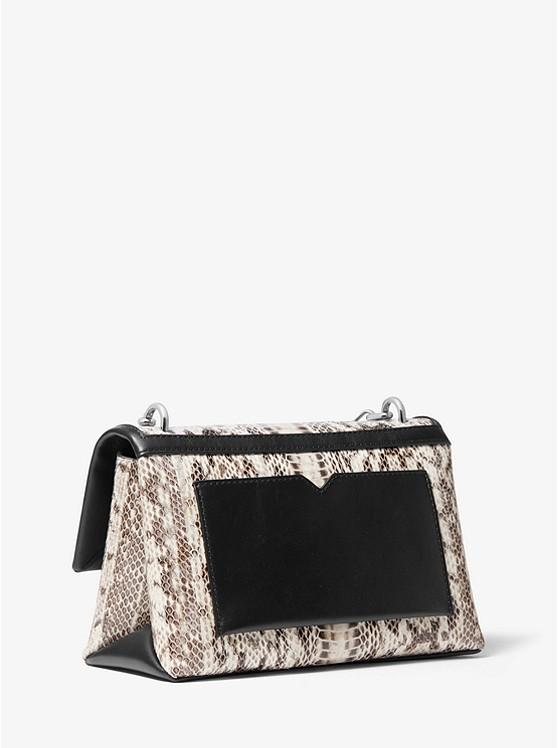Cece Medium Snakeskin Shoulder Bag NATURAL