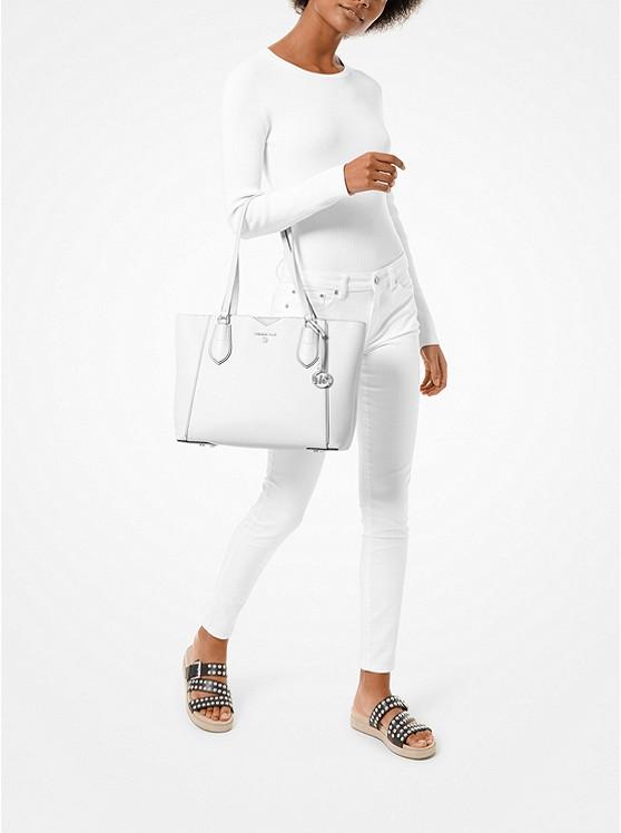 Mae Medium Pebbled Leather Tote Bag