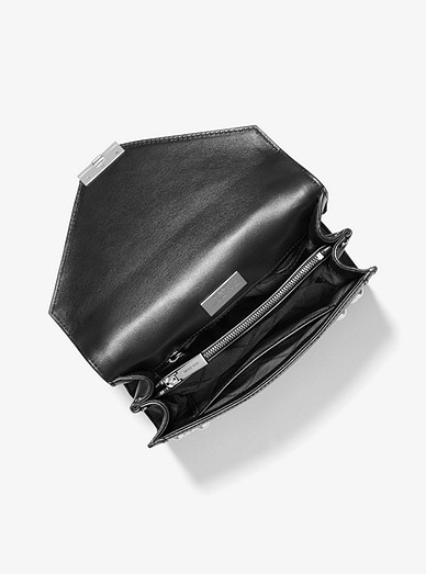 Grand sac à épaule Whitney convertible en cuir à ornements