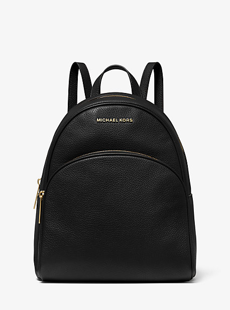 Abbey Medium Pebbled Leather Backpack   Michael Kors