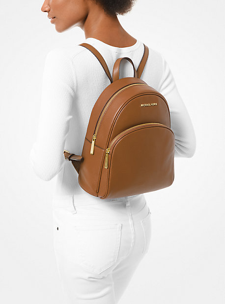 Abbey Medium Pebbled Leather Backpack