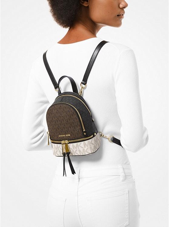 Michael Kors Rhea Mini Color-Block Logo Backpack - Big Apple Buddy