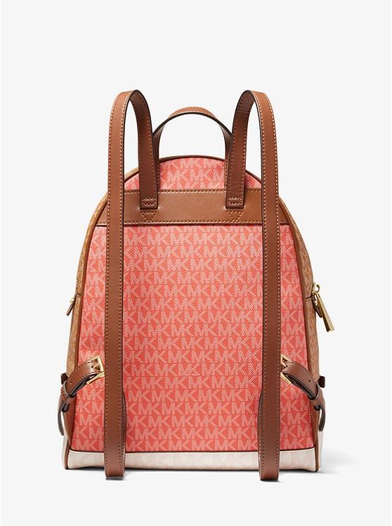 Rhea Medium Color block Logo Backpack | Michael Kors