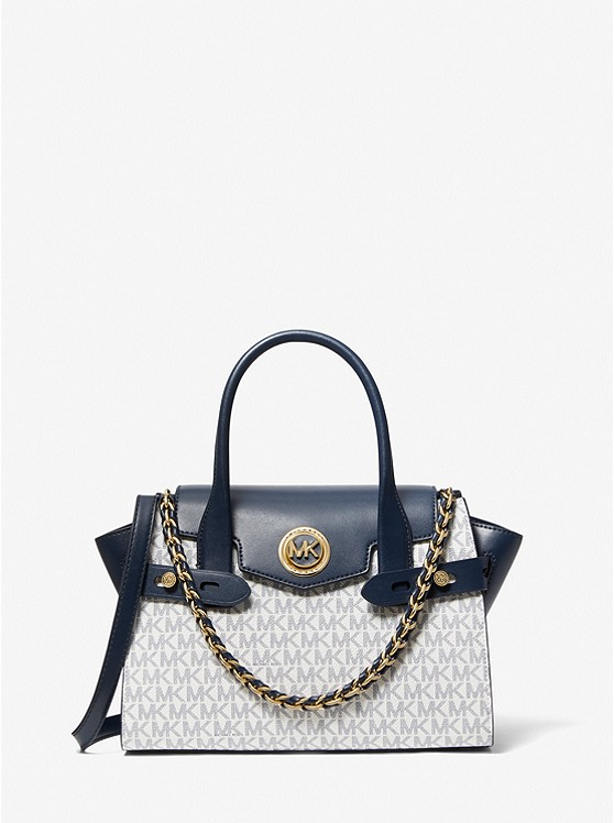 Carmen Small Logo And Leather Belted Satchel | Michael Kors