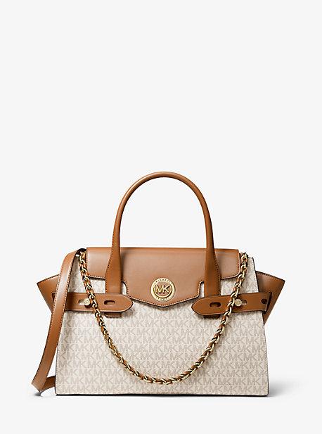 Grand sac porté main Carmen en cuir à ceinture et logo