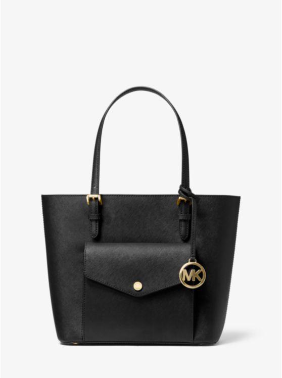 Jet Set Medium Saffiano Leather Pocket Tote Bag