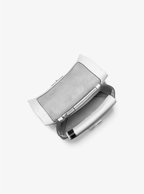 Cece Medium Painterly Stripe Leather Shoulder Bag OPWHT MULTI