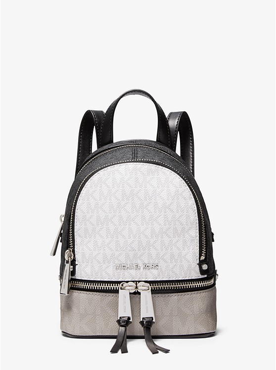 Rhea Mini Color block Logo Backpack | Michael Kors