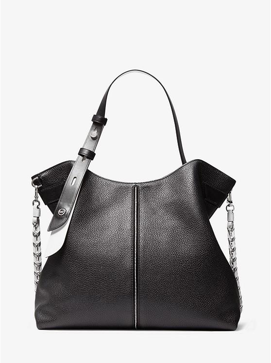 Downtown Astor Large Pebbled Leather Shoulder Bag