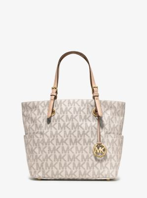 Michael Kors Classic Monogram Large Brown Totes Outlet