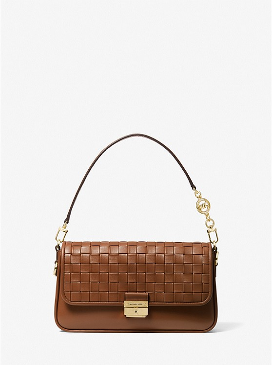 Bradshaw Small Woven Leather Shoulder Bag LUGGAGE