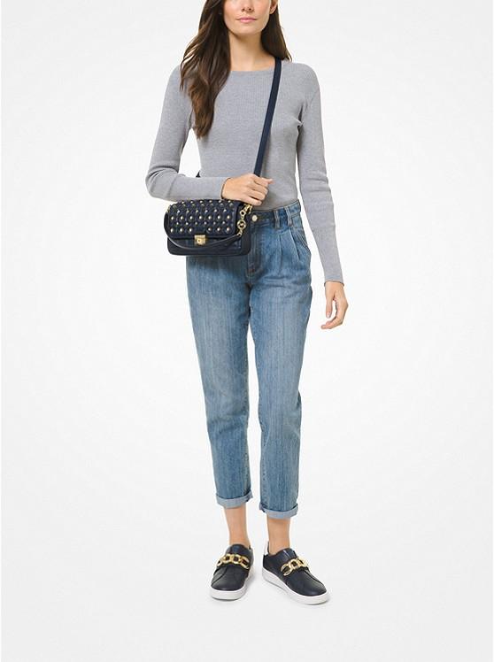 Bradshaw Small Studded Convertible Shoulder Bag NAVY