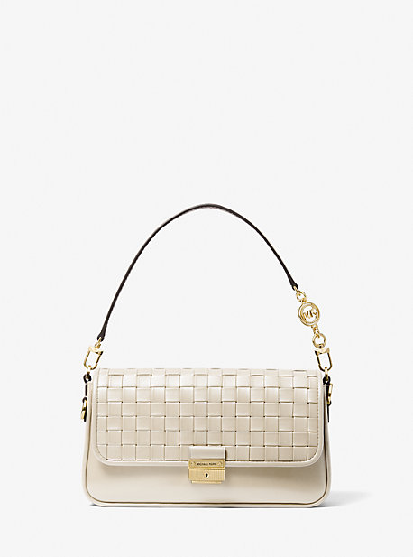 마이클 마이클 코어스 브레드쇼백 스몰 Michael Michael Kors Bradshaw Small Woven Leather Shoulder Bag,CAMEL