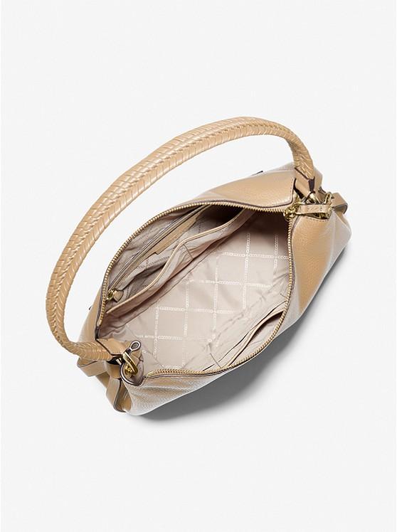Grand Large Pebbled Leather Shoulder Bag CAMEL