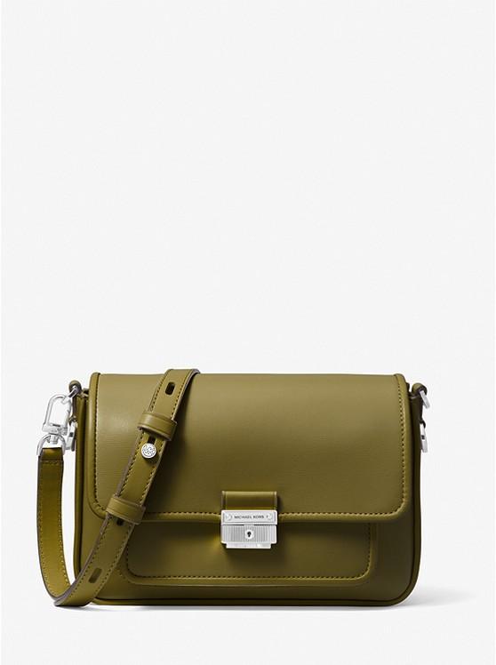 Bradshaw Medium Leather Messenger Bag OREGANO