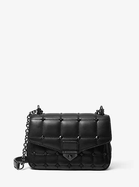 SoHo Small Studded Quilted Leather Shoulder Bag