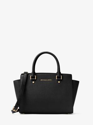 Selma Saffiano Leather Medium Satchel ...