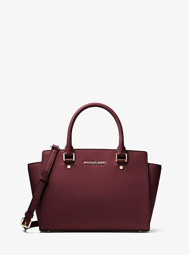 Selma Saffiano Leather Medium Satchel  4ae3d4b2d71
