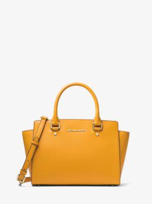 selma saffiano leather medium satchel michael kors rh michaelkors com