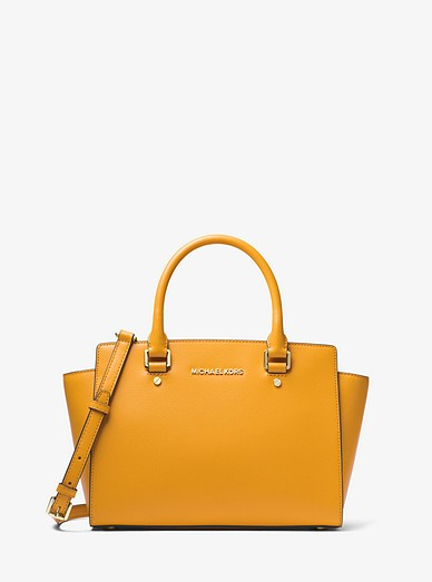 Selma Saffiano Leather Medium Satchel