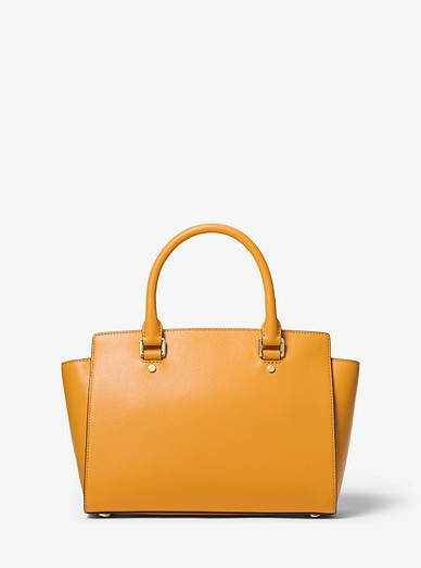Selma Saffiano Leather Medium Satchel Michael Kors