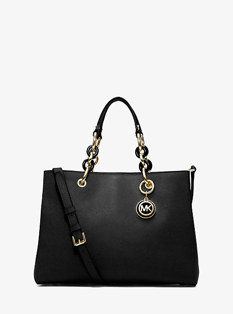 Cynthia Medium Leather Satchel