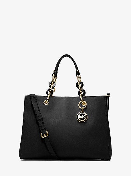Cynthia Medium Leather Satchel