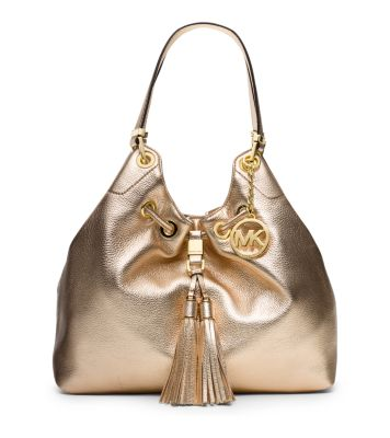 Camden Large Metallic-Leather Drawstring Shoulder Bag | Michael Kors