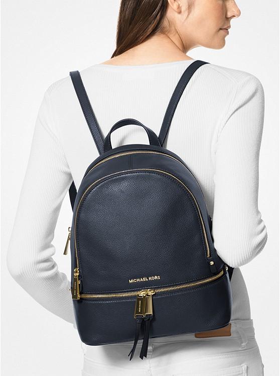 38d86daa3a6a Rhea Medium Leather Backpack | Michael Kors