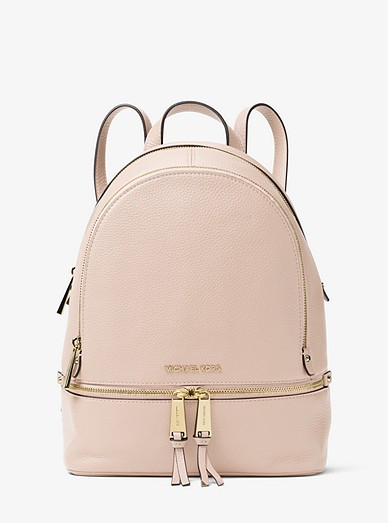 5cfbb225f051 Rhea Medium Leather Backpack | Michael Kors
