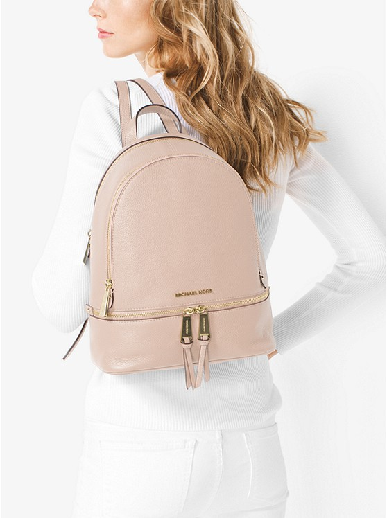 90bfb9728 ... Rhea Medium Leather Backpack Rhea Medium Leather Backpack. MICHAEL  Michael Kors