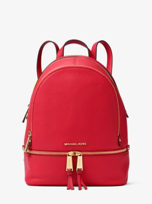 367e667fc6f8 Rhea Medium Leather Backpack | Michael Kors