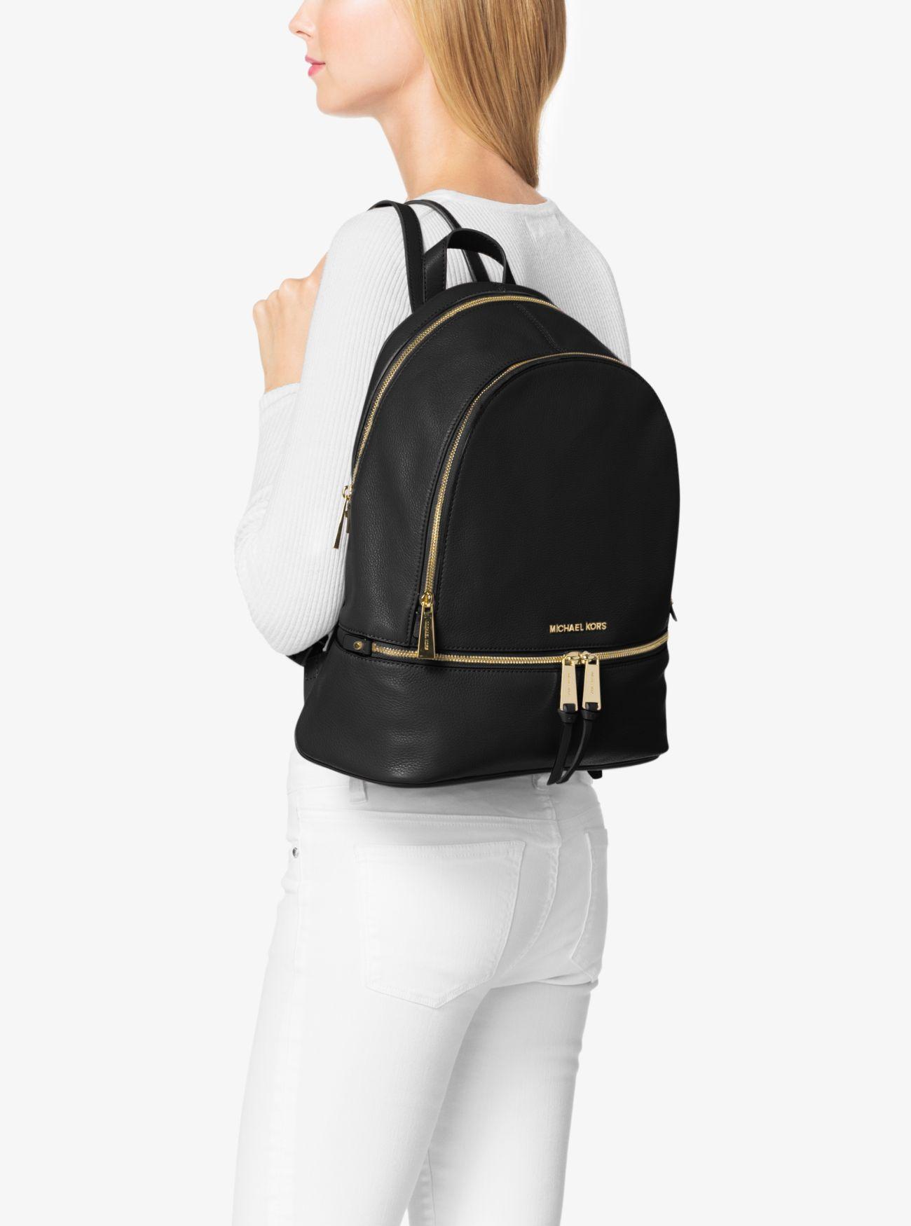 14f668c504d4 ... Rhea Large Leather Backpack Rhea Large Leather Backpack. MICHAEL  Michael Kors