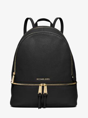 1fb89008d81e09 Rhea Large Leather Backpack | Michael Kors